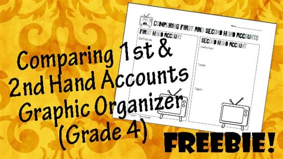 Free printable of the week 1st amp 2nd hand accounts graphic organizer