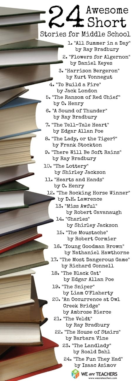 24 Short Stories for Middle School