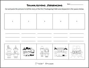 Printables Free Printable Sequencing Worksheets free printable of the week thanksgiving sequencing worksheets first cut and paste preview