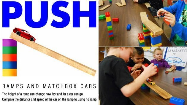 Simple physics experiments for kids pushing and pulling