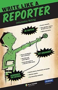 how to write an article like a reporter