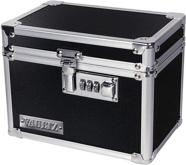 Black lockable box with combination lock (Classroom Escape Room)