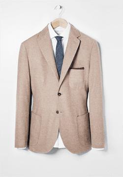 MANGO men's brushed cotton blazer